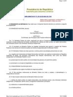 (0 - 0X) Lei Complementar 75 - o Distribuição e Estatuto Do MPU