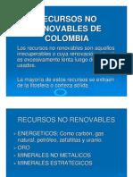 RECURSOS NO RENOVABLES DE COLOMBIA