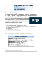 Artigo Certificado Digital e Assinatura Digital
