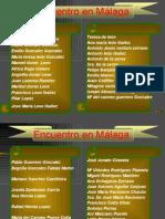 Encuentro en Malaga