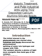 Photo Catalytic Treatment of Paper and Pulp Industry Effluents Using TiO2 Deposited Calcium Alumino Silicate Beads