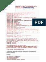 Codigos para todos os tipos de configuraçoes e programaçoes dos