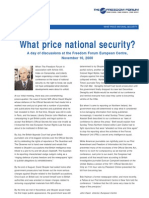 HR - What Price National Security