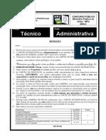 Prova Tecnico Area Administrativa - MPU 2004