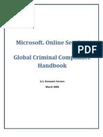 HR - Microsoft Online Services - Global Criminal Compliance Handbook