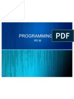 Programming 1- Introduction