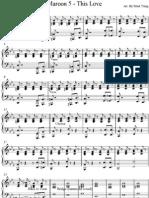 Marron5 This Love Piano