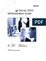 Microsoft Exchange Server 2003Admin