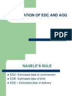 Calculation of Edc and Aog