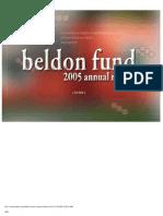 Beldon Fund - Grants List - 2005
