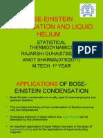 Bose-einstein Condensation and Liquid Helium