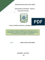 Evaluacion de Riesgos Ambient Ales de La Industria Panificadora