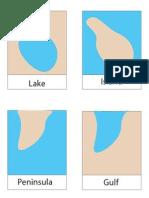 Montessori Landform Cards