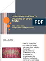 operatoria oclusion