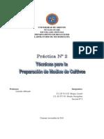 Práctica 2.- Medios de Cultivos