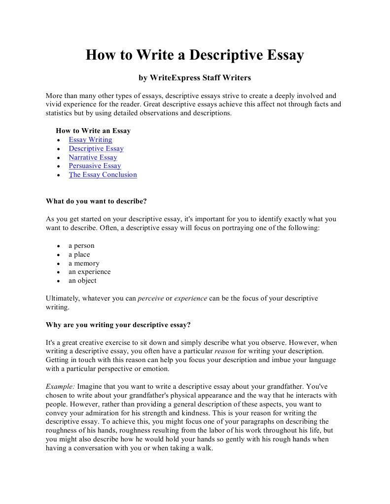 How To Write A Descriptive Essay V Writting Assistance Agency also Essay Paper Writing Service  Custom Writing Sites