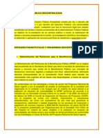 ADMINISTRACION PÚBLICA DESCENTRALIZADA