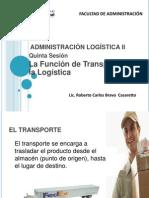 SESION 05 - ADMINISTRACIÓN LOGÍSTICA - FUNCION DE TRANSPORTE
