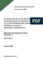 PLAN DE MANEJO DESECHOS SOLIDOS   EN SANTO DOMINGO