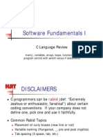 Software Fundamentals I Lecture