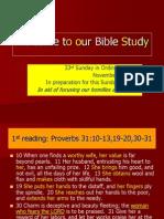 Minggu Biasa 33 - A - I
