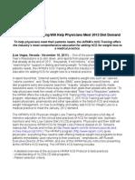 IAPAM's hCG Training Will Help Physicians Meet 2012 Diet Demand