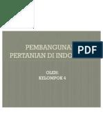 Pembangunan Pertanian Di Indonesia
