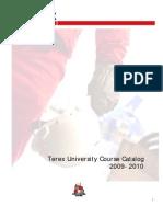 Terex University Course Offerings 2009-2010 En
