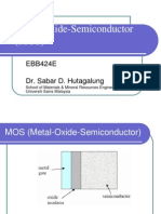 Chapter 3 Metal Oxide Semiconductor (MOS)