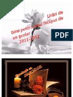Urari pentru dascali 2011-2012