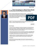 Michael Mauboussin - Long-Term Investing in a Short Term World 5-18-06