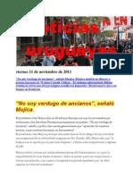 Noticias Uruguayas Viernes 11 de Noviembre de 2011