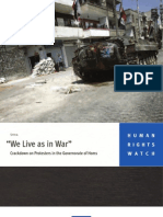 HRW Report on Syria