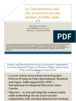 Gender, Infrastructure and Insecurity in new low-income communities of Delhi, India