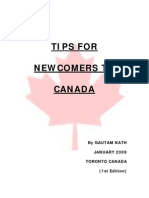 Tips for Newcomers to Canada PDF[1]