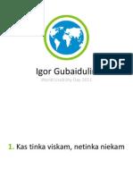 10 patarimų mobiliųjų aplikacijų kūrėjams @ WUD LT 2011