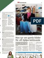 Hon syr om gamla kläder för att hjälpa behövande-Tidningen Härjedalen
