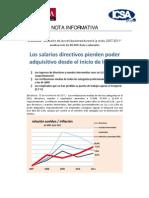 Evolución de las Retribuciones 2007-2011