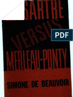 Beauvoir Sartre vs. Meraleau Ponty