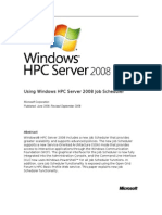 Windows HPC Server 2008 Job Scheduler
