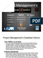 PMBOK -Vs- Six Sigma