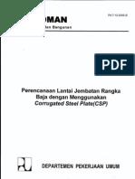 (2) 46.Perencanaan Lantai Jembatan Rangka Baja Dengan Menggunakan Corrugated Steel Plate (CSP)