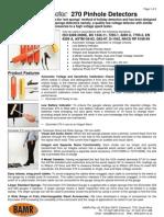 Elcometer 270 Pinhole Detectors