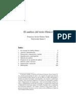 El Análisis Del Texto fílmico de Francisco GomézTarÍn