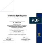 Certificate of participation afsel