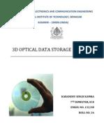 3-d Optical Data Storage