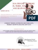 Cardiac Medical Devices - Emerging Markets BRICSS, 2009-2015