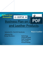 Business Plan on Leather and Leather Products