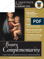 Catholic Womanhood Conference A5 Leaflet 2012
