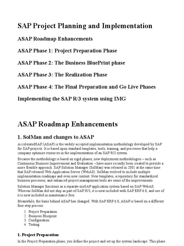 Asap roadmap business process project management malvernweather Gallery